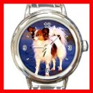 Papillon DOG Pet Animal Round Italian Charm Wrist Watch 320