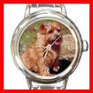 Norfolk Terrier DOG Pet Animal Round Italian Charm Wrist Watch 321