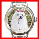 Maltese DOG Pet Animal Round Italian Charm Wrist Watch 324