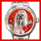 Lhasa Apso DOG Pet Animal Round Italian Charm Wrist Watch 325