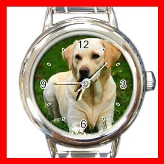 Labrador Retriever DOG Pet Animal Round Italian Charm Wrist Watch 327