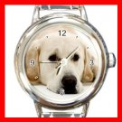 Labrador DOG Pet Animal Round Italian Charm Wrist Watch 328