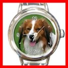 Kooikerhondje DOG Pet Animal Round Italian Charm Wrist Watch 329