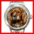 King Charles Spaniel DOG Pet Animal Round Italian Charm Wrist Watch 330