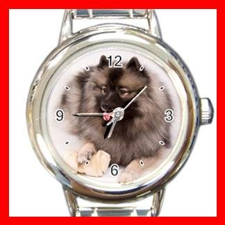 Keeshond DOG Pet Animal Round Italian Charm Wrist Watch 332