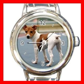 Jack Russell DOG Pet Animal Round Italian Charm Wrist Watch 336