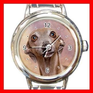 Italian Greyhound DOG Pet Animal Round Italian Charm Wrist Watch 338