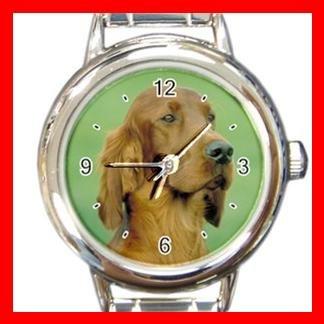 Irish Setter DOG Pet Animal Round Italian Charm Wrist Watch 340
