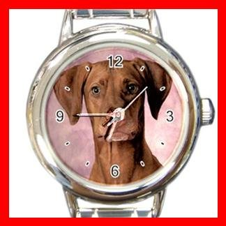 Hungarian Vizsla DOG Pet Animal Round Italian Charm Wrist Watch 341