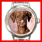 Hungarian Vizsla DOG Pet Animal Round Italian Charm Wrist Watch 341