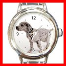 Great Dane DOG Pet Animal Round Italian Charm Wrist Watch 343