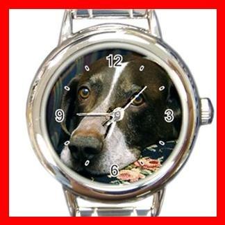 German Shorthair Pointer DOG Pet Round Italian Charm Wrist Watch 350
