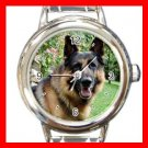 German Shepherd DOG Pet Round Italian Charm Wrist Watch 351