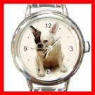 French Bulldog DOG Pet Round Italian Charm Wrist Watch 352
