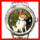 Fox Terrier DOG Pet Round Italian Charm Wrist Watch 353