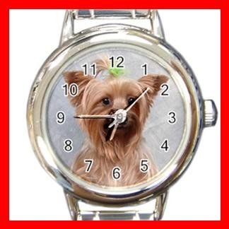 Cairn Terrier Dog Pet Animal Round Italian Charm Wrist Watch 363