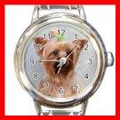 Cairn Terrier Dog Pet Animal Round Italian Charm Wrist Watch 363