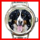 Bernese Mountain Dog Pet Animal Round Italian Charm Wrist Watch 367