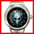 Alien Face UFO Space Round Italian Charm Wrist Watch 374
