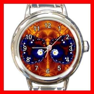 Fractal Butterfly Fly Spiral Round Italian Charm Wrist Watch 389