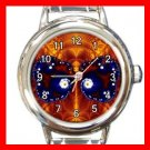 Fractal Butterfly Fly Spiral Round Italian Charm Wrist Watch 389