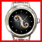 Double Spiral Round Italian Charm Wrist Watch 390
