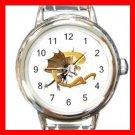 Dragon Letter C Fantasy Round Italian Charm Wrist Watch 400
