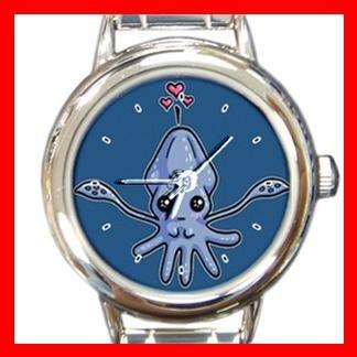 Squid Love Fish Round Italian Charm Wrist Watch 405