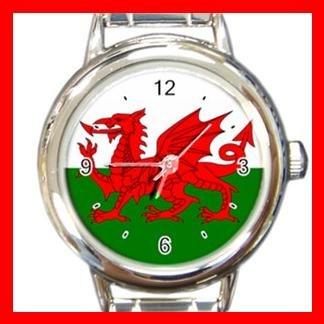 Welsh Wales Flag UK Round Italian Charm Wrist Watch 415