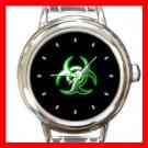 Biohazard Green Bio Hazard Round Italian Charm Wrist Watch 416