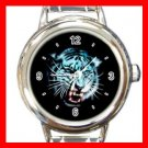 White Tiger Round Italian Charm Wrist Watch 417