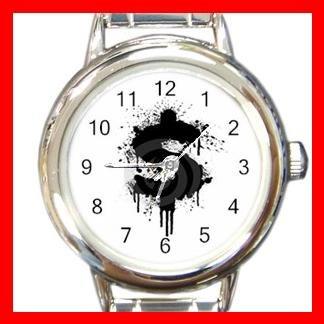 Dollar Splatter Design Fun Round Italian Charm Wrist Watch 423