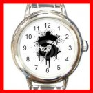 Dollar Splatter Design Fun Round Italian Charm Wrist Watch 423