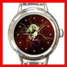 Red Dragon Ancient Myth Round Italian Charm Wrist Watch 426