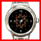 Love Hate Quad Ambigram Fun Round Italian Charm Wrist Watch 428