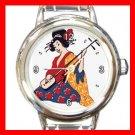 Geisha Geiko Janapese Art Round Italian Charm Wrist Watch 433