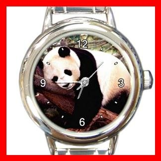 SLEEPING PANDA Animal Fun Round Italian Charm Wrist Watch 438