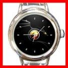 Drag Ying Yang Round Italian Charm Wrist Watch 444