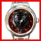 Eye of Tiger Animal Round Italian Charm Wrist Watch 453