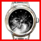 Cute Cat Kitty Pet Round Italian Charm Wrist Watch 454