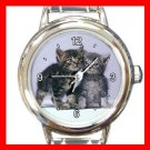 Cute Cats Friendship Pet Round Italian Charm Wrist Watch 455