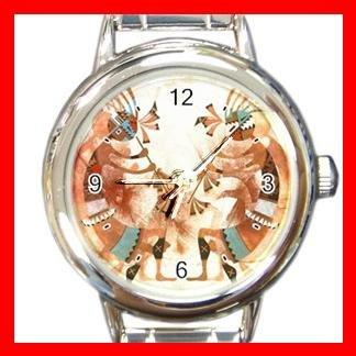 Dance Of The Kokopelli Round Italian Charm Wrist Watch 456