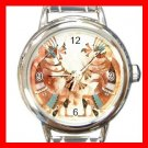 Dance Of The Kokopelli Round Italian Charm Wrist Watch 456