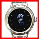 Blue Dragon Myth Round Italian Charm Wrist Watch 457