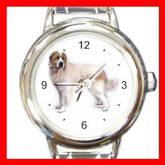 Great Pyrenees Dog Pet Round Italian Charm Wrist Watch 467