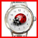 Ladybug Bug Insect Round Italian Charm Wrist Watch 468