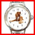 American Cocker Spaniel  Dog Pet Round Italian Charm Wrist Watch 469