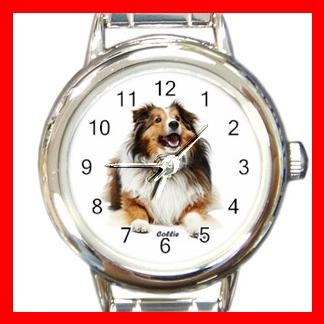 Collie Dog Pet Round Italian Charm Wrist Watch 476