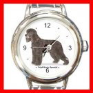 Irish Water Spaniel Dog Pet Round Italian Charm Wrist Watch 477