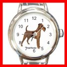 Irish Terrier Dog Pet Round Italian Charm Wrist Watch 478